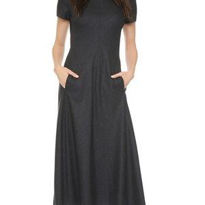 Theory Kalriem Flannel Wool Blend Dress Sz.2 Grey